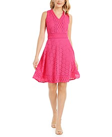 Lace Fit & Flare Dress, Created for Macy's