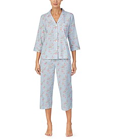 Floral-Print Capri Pajamas Set