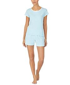 Printed T-Shirt & Boxer Shorts Pajama Set