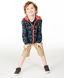 Toddler Boys Reversible Windbreaker, King T-Shirt & Hammock Cargo Shorts, Created for Macy's