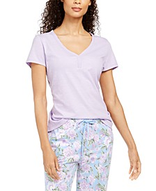 Cotton Knit Pajama T-Shirt, Created for Macy's