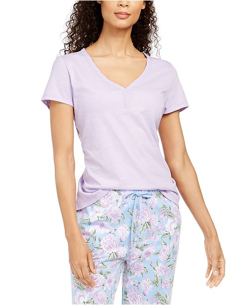 Charter Club Cotton Knit Pajama T-Shirt, Created For Macy's