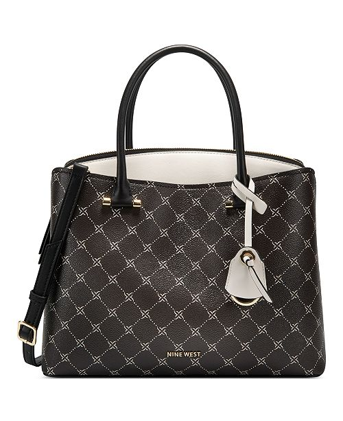 Nine West Eloise Logo Jet Set Large Satchel