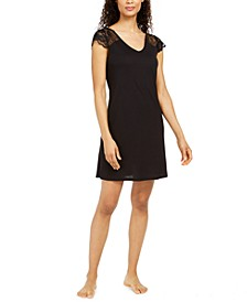 Petite Lace Sleeve Chemise  Nightgown, Created for Macy's
