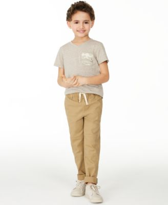 Toddler Boys Stretch Twill Moto Chino Pants, Created for Macy's