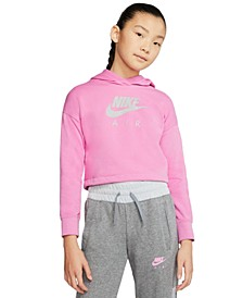 Big Girls Cropped Fleece Hoodie