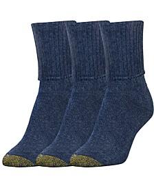 GOLDTOE® Women's 3-Pk. Bermuda Socks