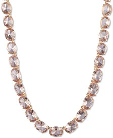 """Gold-Tone Stone 16"""" Collar Necklace"""
