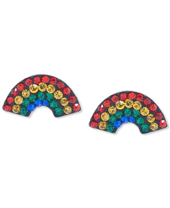 Giani Bernini - Crystal Rainbow Stud Earrings in Sterling Silver