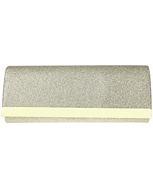 Metal Bar Glitter Clutch