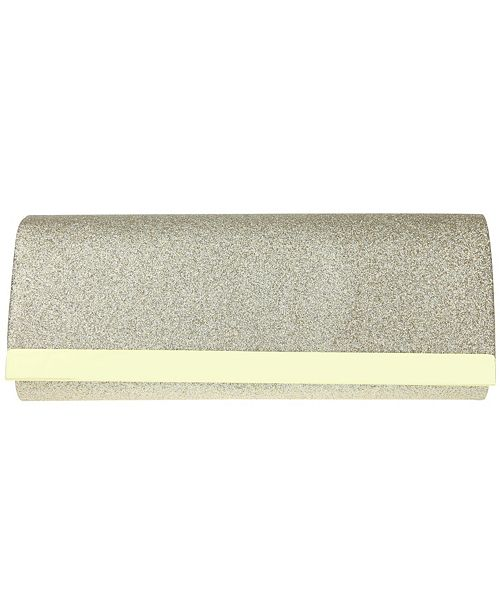 Nina Metal Bar Glitter Clutch