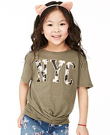 Big Girls Daisy NYC Twist T-Shirt, Created For Macy's