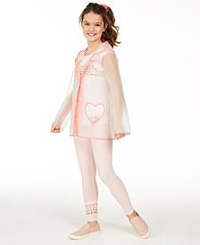Big Girls Rainbow Heart T-Shirt, Leggings & Raincoat Separates, Created For Macy's