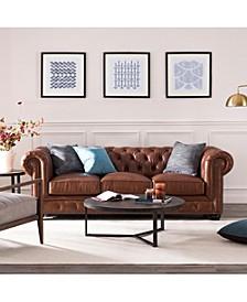 Alexandon Leather Chesterfield Sofa