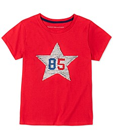 Little Girls Flip Sequin Star T-Shirt