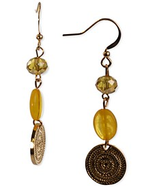 Gold-Tone Coin & Bead Triple Drop Earrings, Created for Macy's