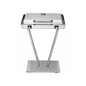 Brookstone Indoor/Outdoor Stainless Steel Electric Grill