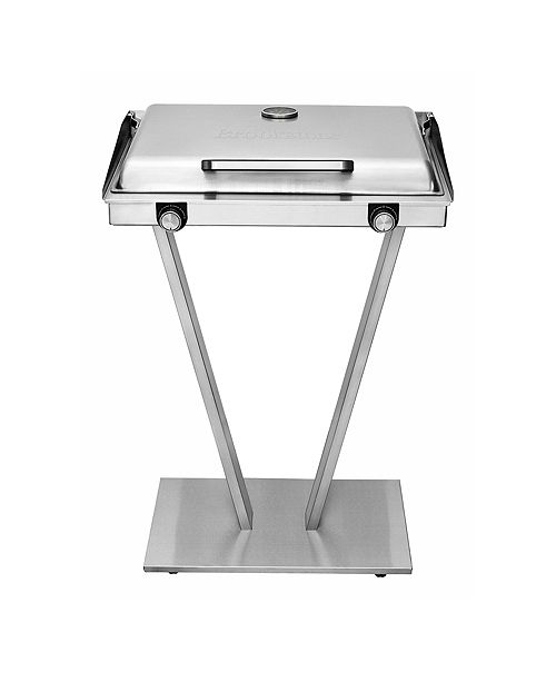 Brookstone Indoor   Outdoor Stainless Steel Electric Grill
