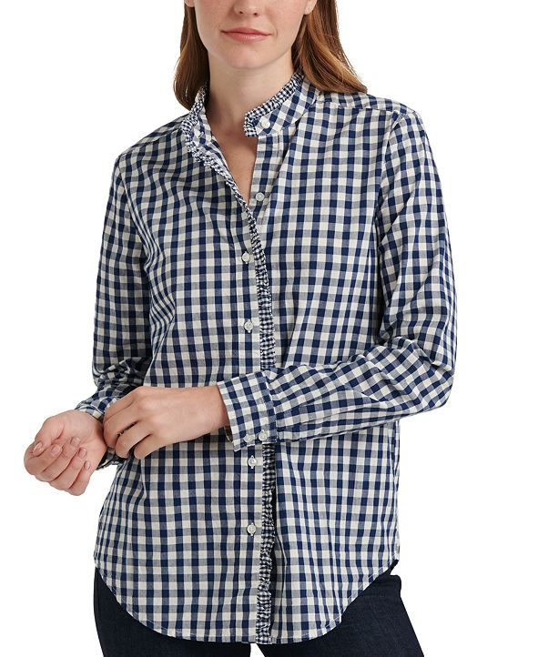 Lucky Brand Ruffled Cotton Shirt