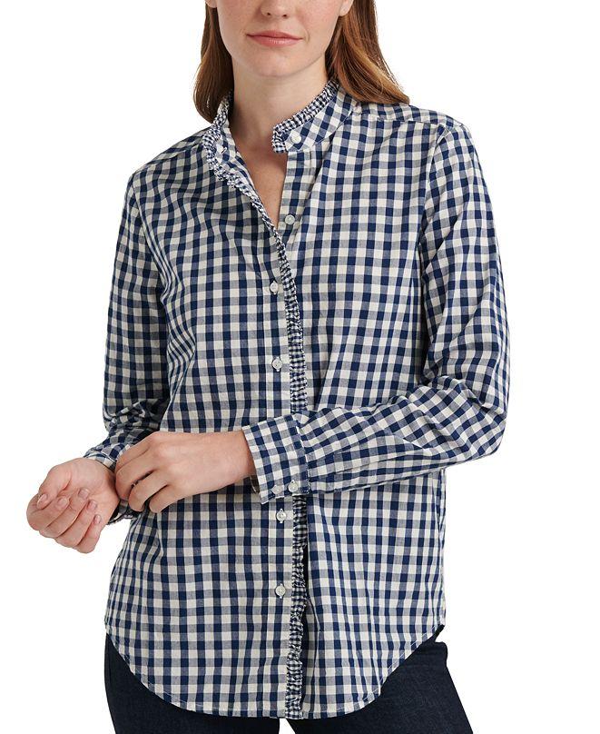 Lucky Brand Ruffled Cotton Shirt
