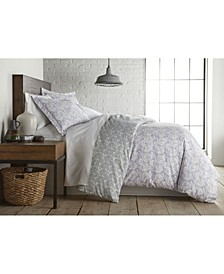 Circle and Swirls Ultra Soft Duvet Cover and Sham Set, King