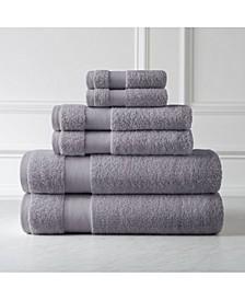 Premium Quality 100% Combed Cotton Towel Set, 6 Piece