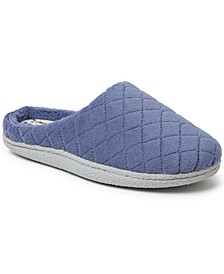 Leslie Quilted Microfiber Terry Clog Slipper, Online Only
