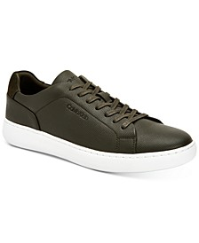 Men's Kellen Embossed Leather Tennis Sneakers