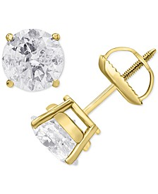 Diamond Stud Earrings (1-1/2 ct. t.w.) in 14k White, Yellow or Rose Gold