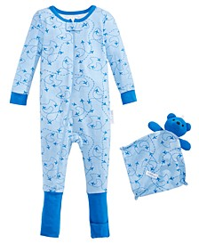Baby Boys 2-Pc. Printed Pajama & Blankie Baby Set