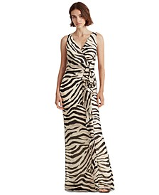 Animal-Print Gown