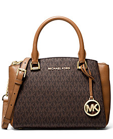 MICHAEL Michael Kors Signature Maxine Small Leather Messenger Bag