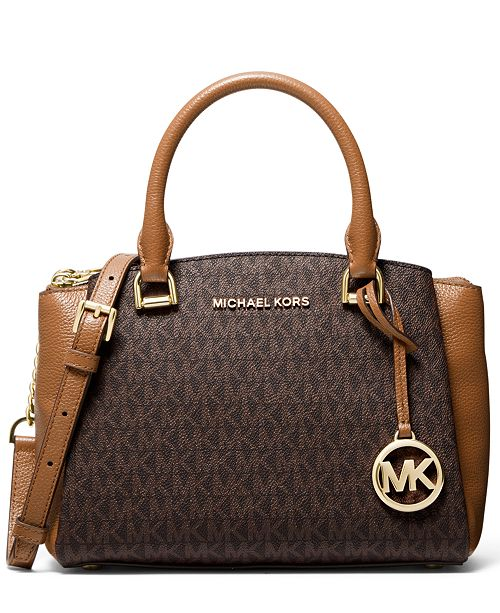 Michael Kors Signature Maxine Small Leather Messenger Bag