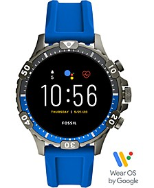 Men's Garret Gen 5 HR Blue Silicone Strap Touchscreen Smart Watch 46mm