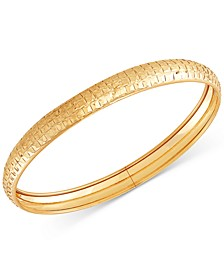 Prism-Cut Flex Bangle Bracelet in 10k Gold