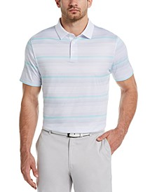 Men's Big & Tall Gradient-Stripe Golf Polo