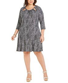 Plus Size Snake-Print Dress
