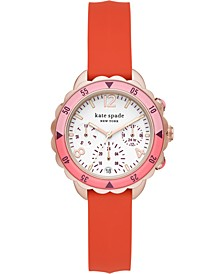 Women's Baywater Coral Silicone Strap Watch 34mm