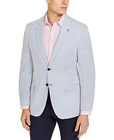 Men's Modern-Fit Stretch Stripe Seersucker Sport Coat