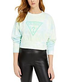 Mirtilla Fleece Tie-Dye Logo Sweatshirt