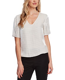 Iridescent V-Neck Blouse