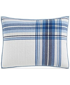 Engineered Plaid Reversible Standard Sham, Created for Macy's