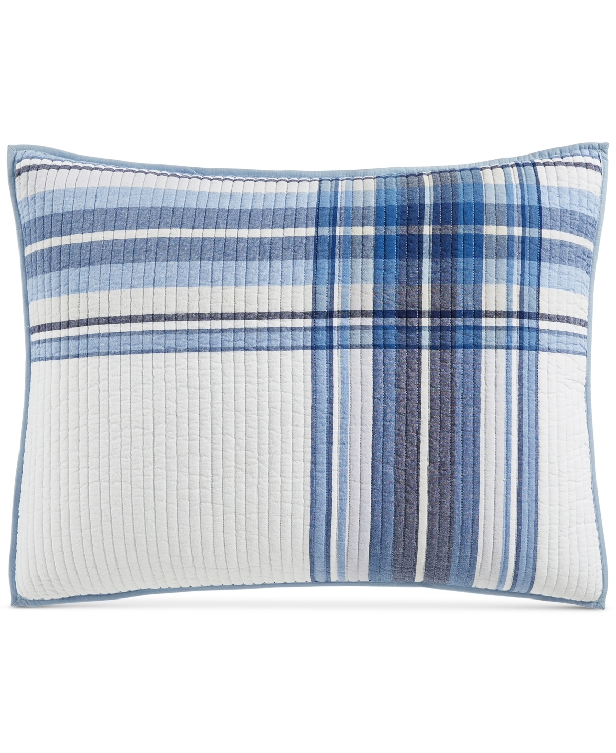 Martha Stewart Collection Engineered Plaid Reversible Standard Sham, Created for Macy's