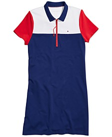 Women's Polo Dress with Extended Zipper Pull