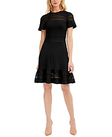 Mesh-Mix Dress, Regular & Petite