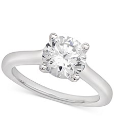 Certified Diamond Solitaire Engagement Ring (2 ct. t.w.) in 14k White Gold