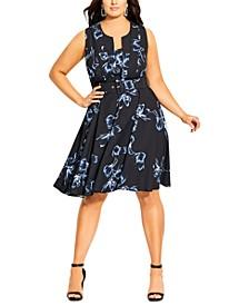 Trendy Plus Size Hiroto Floral Dress