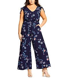 Trendy Plus Size Itsuki Floral Jumpsuit
