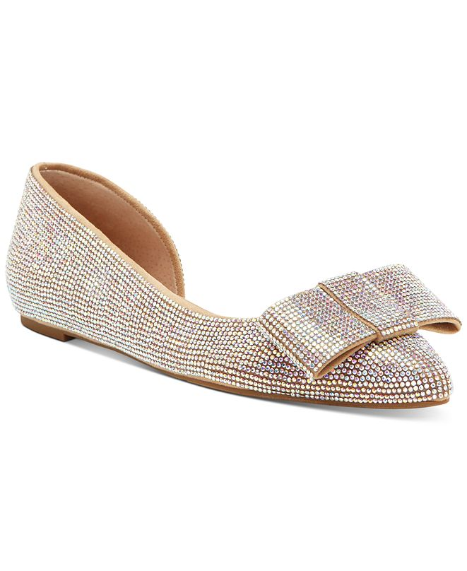 INC International Concepts INC Women's Maiyana Evening Bow Flats, Created for Macy's