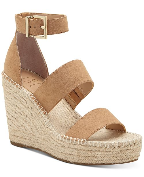INC International Concepts INC Women's Catiana Wedge Sandals, Created for Macy's
